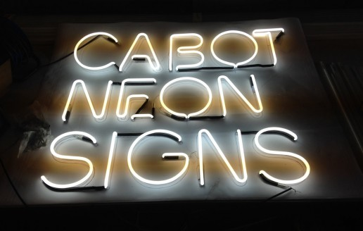 Our new logo in neon