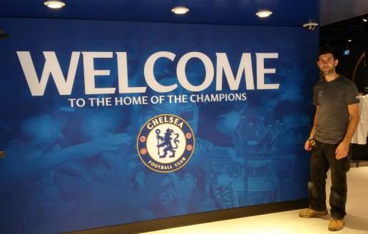 Graphics Install at Chelsea FC Mega Store