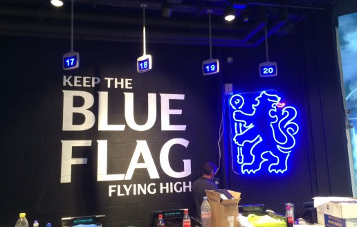Neon install at Chelsea FC's new mega store
